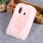 Rhinestone Soft Fur Coated TPU Protection Mobile Phone Case for Huawei nova 3 – Pink
