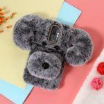 3D Cute Dog Pattern Soft Fur Coated Rhinestone Decor TPU Case for Huawei Mate 10 Lite / nova 2i / Maimang 6 / Honor 9i (India) – Grey