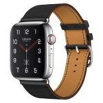 Genuine Leather Watch Band for Apple Watch Series 4 40mm, Series 3 / 2 / 1 38mm – Black