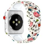 Pattern Printing Wrist Bracelet Strap for Apple Watch Series 4 44mm / Series 3 2 1 42mm – Style A