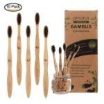 5Pcs/Set Natural Bamboo BPA Free Toothbrush with Character (German Package)