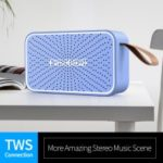 FINEBLUE MK-12 HiFi Bluetooth Speaker with Mic Support TWS/AUX/TF Card – Blue