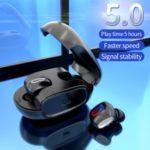 TWS True In-ear Wireless Bluetooth 5.0 Headset Earphone with Charging Box – Black