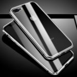 Magnetic Glass Phone Shell Full Protection for iPhone 8 Plus / 7 Plus 5.5 inch – Silver