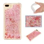Dynamic Quicksand Shock-absorbing TPU Back Case for iPhone 8 Plus/7 Plus/6s Plus/6 Plus 5.5 inch – Pink