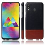 KSQ Bi-color Splicing PU Leather Coated PC Shell Case for Samsung Galaxy M20