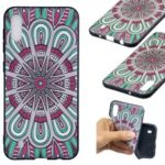 Embossed Pattern TPU Phone Accessory Case for Samsung Galaxy M10 – Colorful Flower