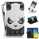 For Samsung Galaxy S10e Patterned PU Leather Stand Phone Cover [Light Spot Decor] – Angry Panda