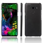 KSQ Crazy Horse PU Leather Coated PC Case for LG G8 ThinQ – Black