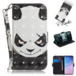 Pattern Printing Light Spot Decor Leather Wallet Case for Samsung Galaxy S10 – Panda Pattern