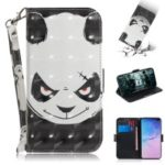 Pattern Printing Light Spot Decor Leather Wallet Stand Case for Samsung Galaxy S10 Plus – Panda Pattern