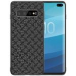 NILLKIN Synthetic Fiber Plaid Pattern PC TPU Hybrid Phone Case for Samsung Galaxy S10 Plus