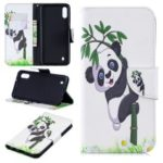 Pattern Printing Wallet Leather Stand Case for Samsung Galaxy M10 – Panda Pattern