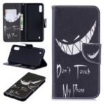 Pattern Printing PU Leather Protective Shell for Samsung Galaxy M10 – Angry Face