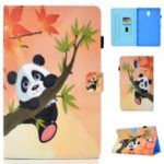 Patterned Leather Card Holder Tablet Flip Case for Samsung Galaxy Tab A 10.5 (2018) T590 T595 – Panda on the Tree