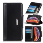 PU Leather Protection Cell Phone Cover with Wallet Stand for Samsung Galaxy A40 – Black