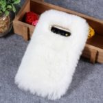 Soft Fur Coated Rhinestone TPU Case for Samsung Galaxy S10 – White