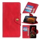PU Leather Protection Phone Shell with Wallet Stand for Samsung Galaxy A30/A20 – Red