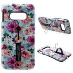 Embossment Pattern Printing TPU + Plastic Hybrid Case with Kickstand for Samsung Galaxy S10e – Style A