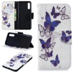 Pattern Printing [Stand Wallet] Leather Cell Phone Case for Samsung Galaxy A50 – Pretty Butterflies
