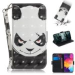 Pattern Printing Light Spot Decor Leather Wallet Case for Samsung Galaxy A50 – Panda Pattern