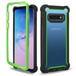 Anti-drop PC and TPU Hybrid Back Case for Samsung Galaxy S10 – Green / Black