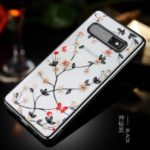 SULADA Electroplating Rhinestone Decoration Patterned PC Phone Case for Samsung Galaxy S10 Plus – Black