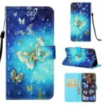 Pattern Printing Leather Wallet Case for Samsung Galaxy M10 – Butterfly Pattern