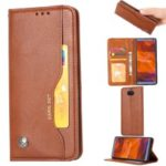 Auto-absorbed Wallet Stand Flip Leather Mobile Cover for Sony Xperia 10 – Brown
