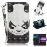 Pattern Printing PU Leather Stand Wallet Cover for Sony Xperia 1 – Angry Panda