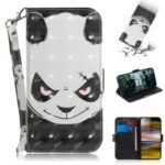 Pattern Printing PU Leather Stand Flip Cover for Sony Xperia 10 Plus – Angry Panda
