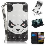 Pattern Printing / Light Spot Decor / Leather Wallet Case for Sony Xperia L3 – Angry Panda