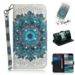Pattern Printing PU Leather Wallet Cover with Stand for Sony Xperia 10 – Mandala Flower