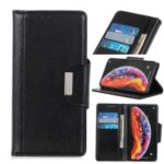 Glossy PU Leather Wallet Case for LG V50 ThinQ 5G – Black