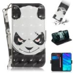 Pattern Printing Light Spot Decor Leather Wallet Case for Huawei P Smart (2019) – Panda Pattern