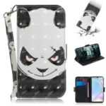 For Huawei P30 Pattern Printing PU Leather Wallet Mobile Case [Light Spot Decor] – Angry Panda