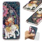 Pattern Printing TPU Back Case for Huawei Honor 8A – Flower and Elephant