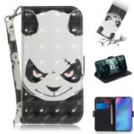 Pattern Printing Light Spot Decor Leather Wallet Case for Huawei P30 Pro – Panda Pattern