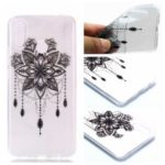 Pattern Printing Soft TPU Back Phone Case for Huawei P30 Lite – Black Flower
