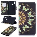 Pattern Printing Wallet Leather Stand Case for Huawei Y7 (2019) – Colorized Butterfly