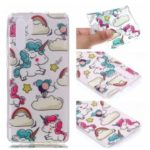 Soft Case for Huawei P30 Pro Pattern Printing TPU Back Cover – Cloud and Unicorns