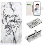 [Light Spot Decor] [Embossed Pattern] Leather Wallet Case for Huawei Honor 10 Lite – English Characters