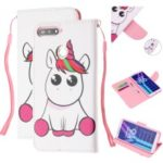 Pattern Printing Wallet Leather Stand Case for Huawei Y6 (2018) – Unicorn
