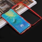 For Huawei Mate 20 Pro Detachable Magnetic Metal Frame + Tempered Glass Back Cover – Red