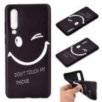 Pattern Printing Flexible TPU Gel Phone Casing for Huawei P30 – Smiling Face