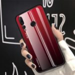 Scratch Resistant Tempered Glass TPU + PC Gradient Phone Case for Huawei nova 4 – Red