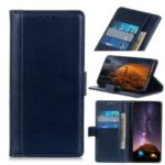 PU Leather Mobile Phone Case with Wallet Stand for Huawei Y6 (2019) – Dark Blue