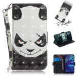 Pattern Printing Light Spot Decor Leather Wallet Stand Case for Huawei Y7 Pro (2019) – Panda Pattern