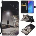 Pattern Printing Leather Wallet Stand Case for Huawei P30 Pro – Streetscape