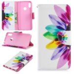 Pattern Printing PU Leather Flip Stand Shell for Y6 (2019)/Y6 Pro (2019)/Y6 Prime (2019) – Petals Pattern